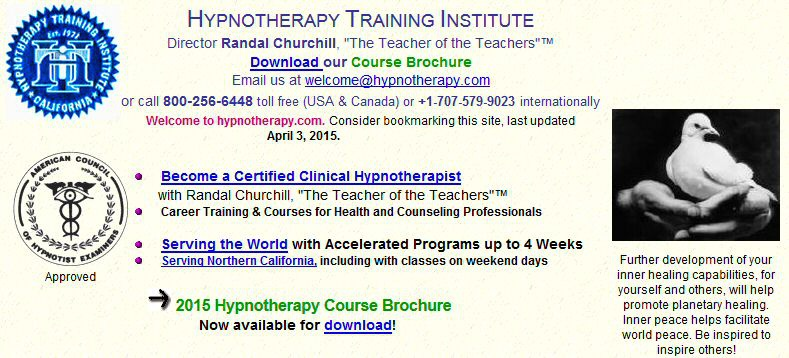 HYPNOTHERAPY TRAINING INSTITUTE